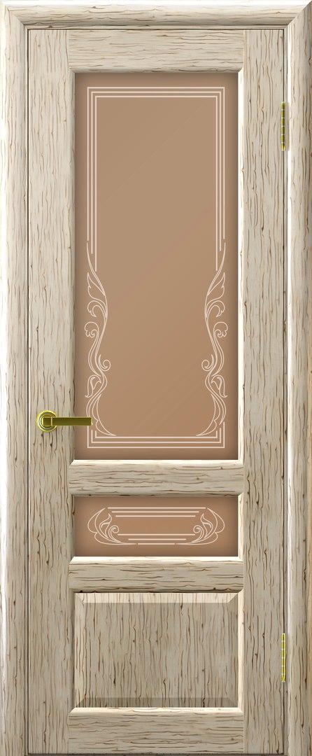 Фото дверей беленый дуб со стеклом